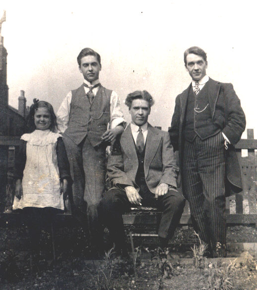Left to right: Jessie Nixon, Walter Nixon, Jack Nixon, Edgar Nixon