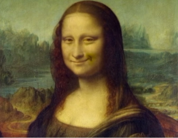 Give us a smile, Mona Lisa