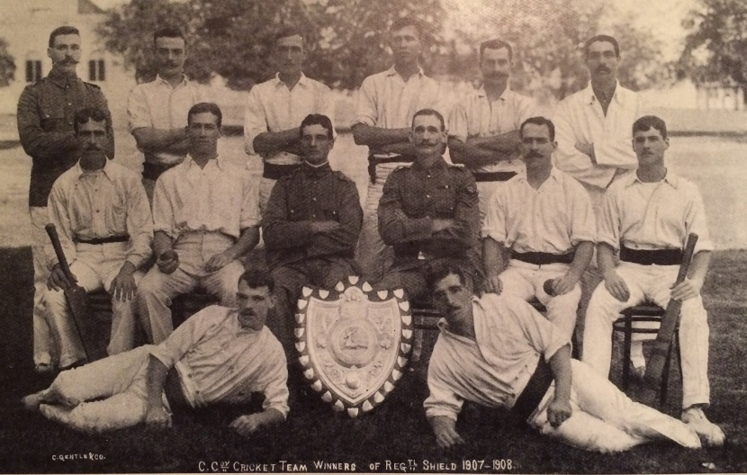 Sherwood Foresters cricketers 1908
