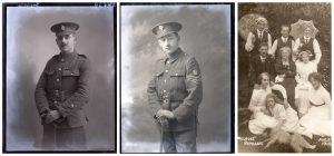 Henry Tyers, Horace Williams, Melrose 1914