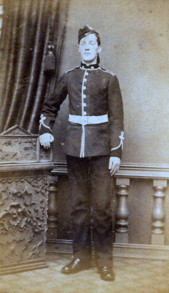 Private soldier, pre 1881.
