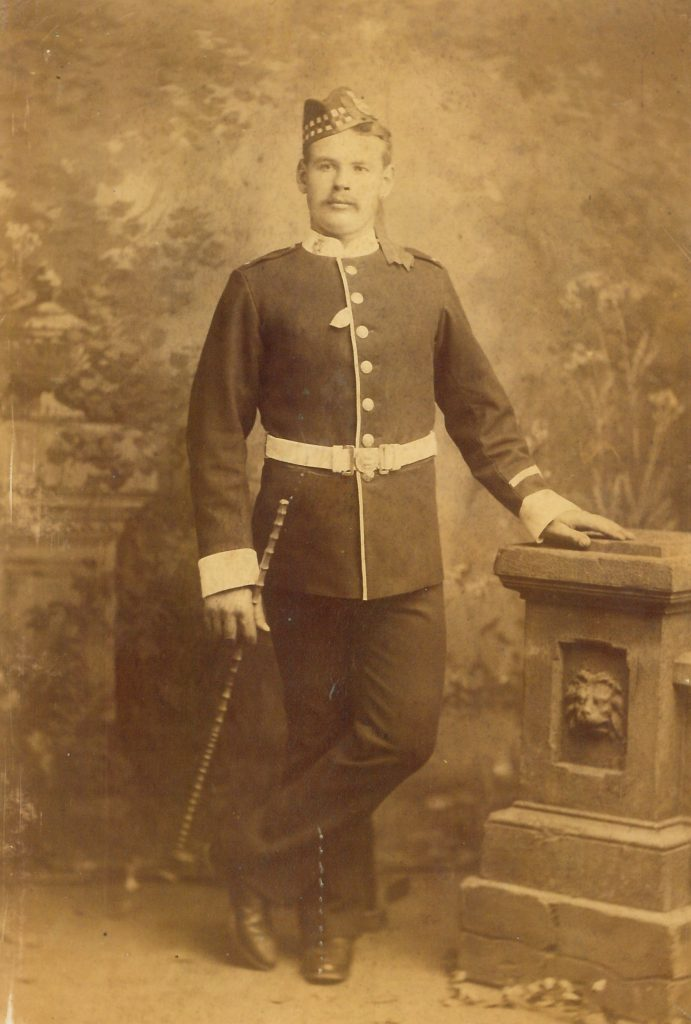Private soldier, 35th Regiment of Foot, circa 1890s.