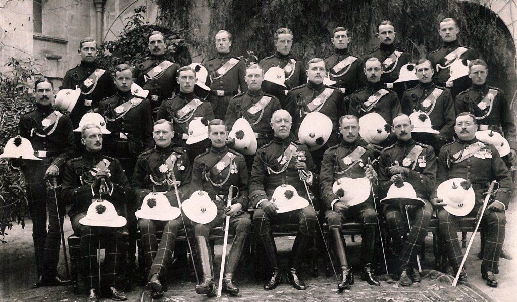 Officers of the 2nd Battalion, Scottish Rifles, Malta 1913.