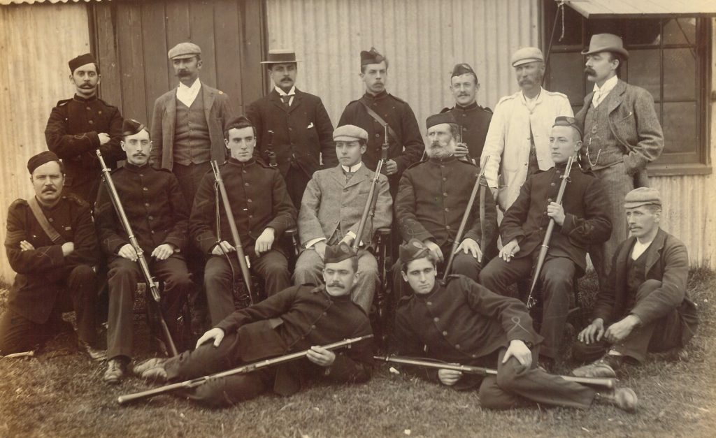 Shooting team, 1st Volunteer Battalion, Dorsetshire Regiment, circa 1897